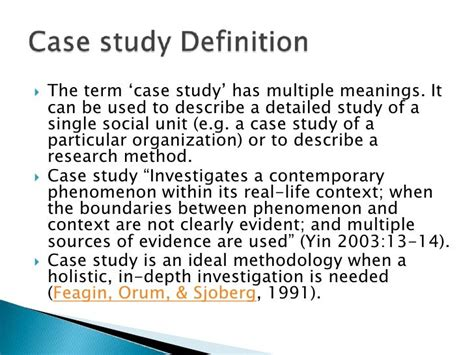 What Do You Mean By Case Study